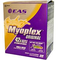 EAS, Myoplex Original Shake Mix, ванильный крем, 20 пакетиков, 2,7 унции (78 г) каждый