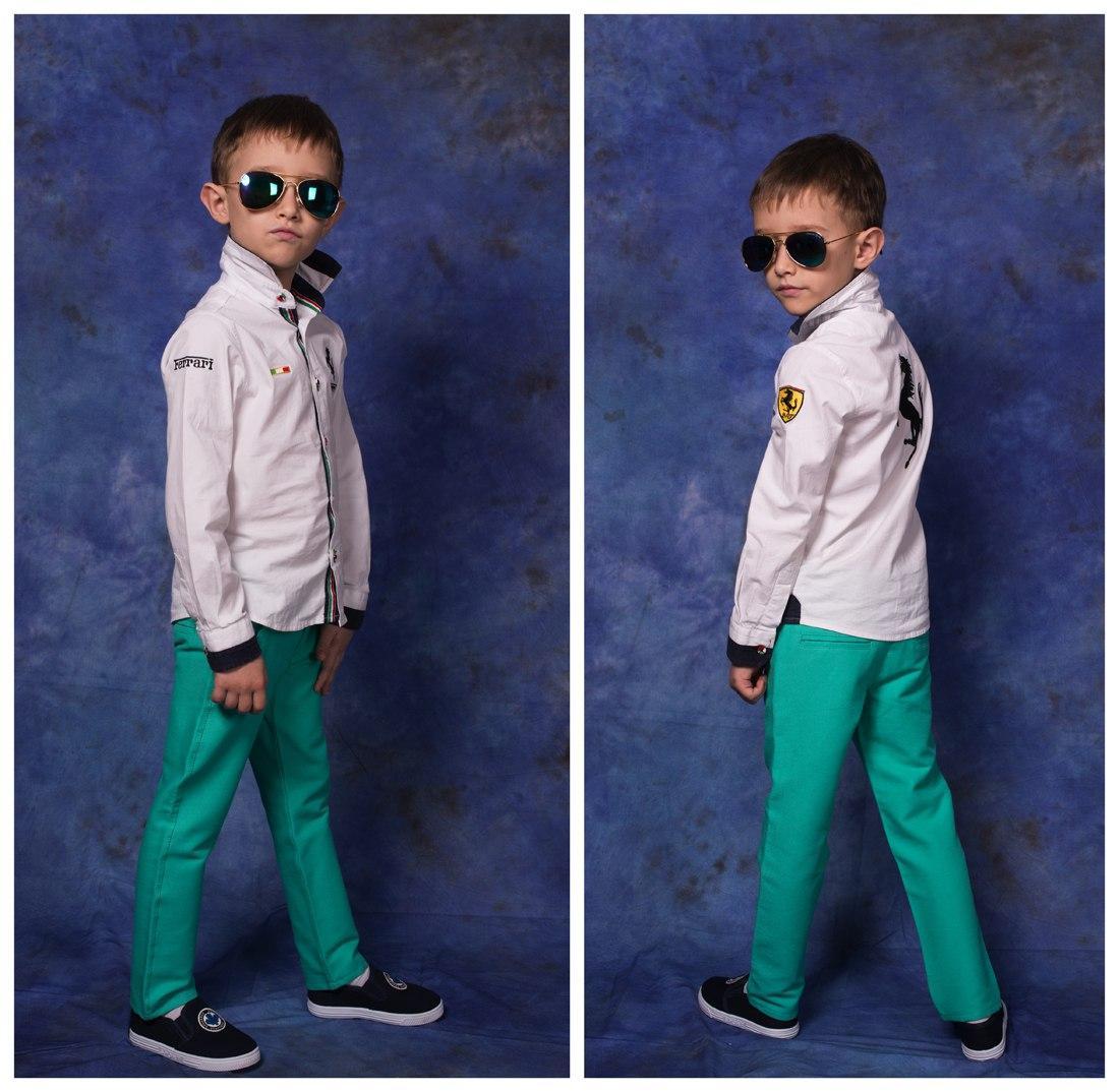 """Стильные детские джинсы для мальчика """"Armani"""" с карманами"""