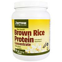 Jarrow Formulas, Концентрат белка коричневого риса, ванильный вкус, 16 унций (454 г) порошка