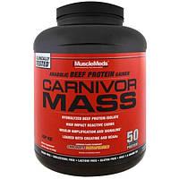 MuscleMeds, Формула для набора массы Carnivor Mass, шоколадно-арахисовая паста, 6 фунтов (2744 г)