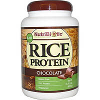 NutriBiotic, Рисовый белок с шоколадом, 1 фунт и 6.9 унций (650 г)