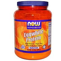 Now Foods, Протеин яичного белка, без сахара, ванильный крем, 1,5 фунта (680 г)