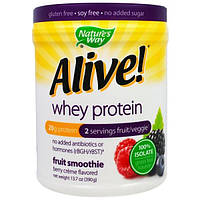 Natures Way, Alive! Whey Protein, Berry Creme Flavored , 13.7 oz (390 g)