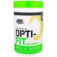 Optimum Nutrition, Opti-Fit Бедный Протеином Коктейль, Ваниль, 1,8 фунта (816 г)