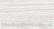 Ясень белый - плинтус ПВХ с кабель-каналом и мягким краем