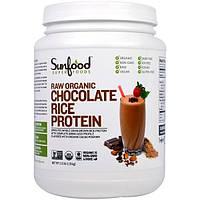 Sunfood, Органический шоколадный рисовый протеин, 1.13 кг (2.5 фунта)