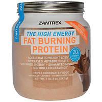 Zoller Laboratories, Белковый порошок для сжигания жира, тройной шоколадный фадж, 1 фунт 3 унции (542 г)