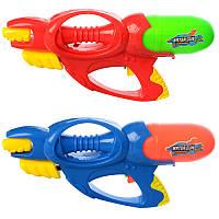 Детский водяной пистолет M 3051, размер большой, 39см, 2 цвета, в кульке, 23,5-43-7,5см