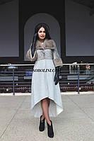 Длинное пальто верх кожа питона + мех норка KOPENHAGEN, низ выполнен из альпаки