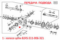 Колесо цепи  8245-511-006-321 z=15. Ланцюгове колесо 8245-511-006-321. Famarol. Запчасти к FAMAROL