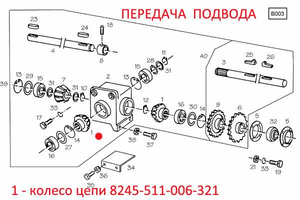 Колесо цепи  8245-511-006-321 z=15