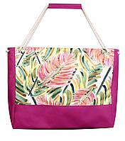 """Удобная пляжная сумка """"Разноцветные листья"""""""