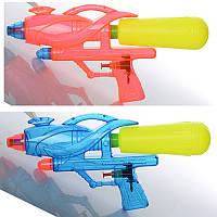 Детский водяной пистолет M 2595 помпа, размер средний, 30см, 2 цвета, в кульке, 30-15-4,5см