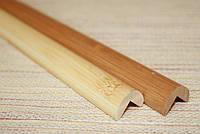Молдинг бамбуковый, наружный угол, светлый