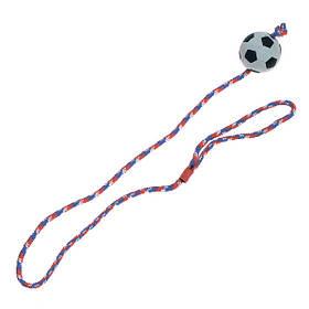КАРЛИ-ФЛАМИНГО игрушка для собак, резиновый мяч спонжбол на веревке, 6 см