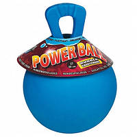 КАРЛИ-ФЛАМИНГО пауэр бол игрушка для крупных собак, мяч плавающий с ручкой, резина, 22 см