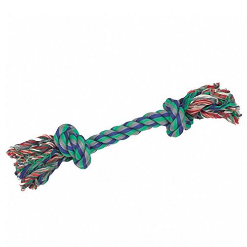 Karlie Flamingo КАРЛИ-ФЛАМИНГО игрушка для собак веревочная кость, 2 узла, 22 см