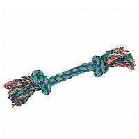 КАРЛИ-ФЛАМИНГО игрушка для собак веревочная кость, 2 узла, 22 см