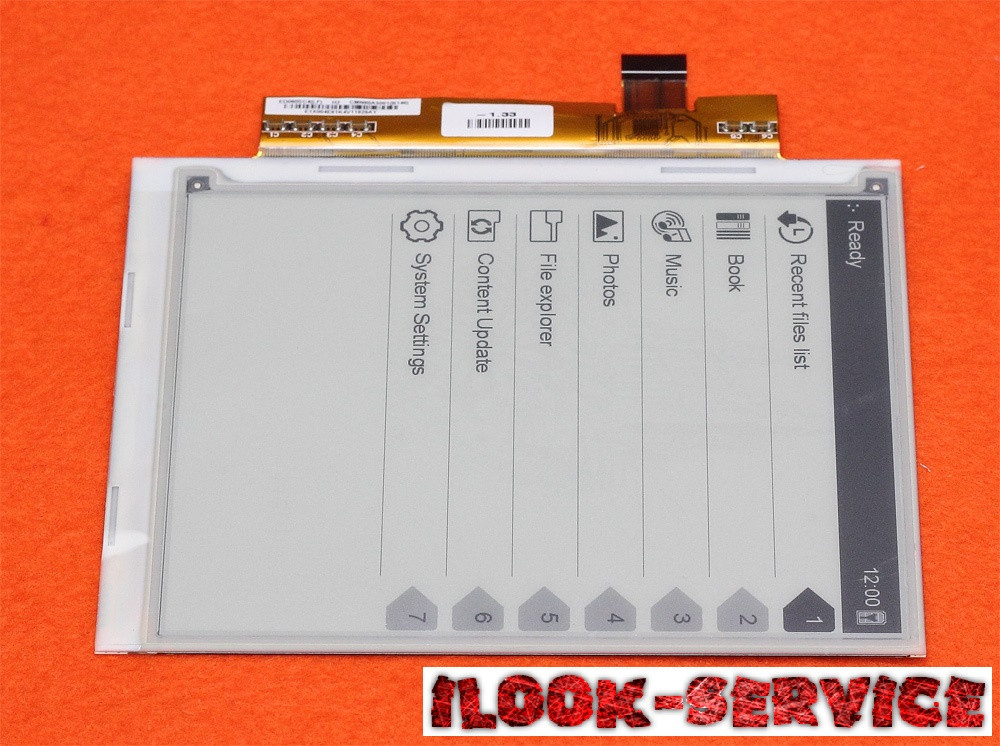 Матрица/Экран/Дисплей ED060SC4 для электронной книги SONY PRS-600