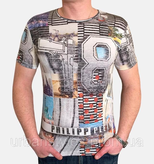 Стильная мужская футболка PHILIPP PLEIN