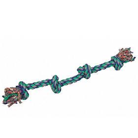 КАРЛИ-ФЛАМИНГО игрушка для собак веревочная кость, 4 узла