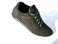 Кожаные мужские кроссовки Columbia перфорация