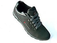 Кожаные мужские кроссовки Columbia чер.