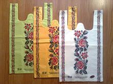Пакеты-майка с цветной печатью