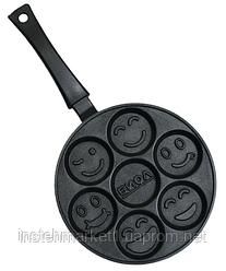 Сковорода оладница БИОЛ СО-24П (240х19 мм) с антипригарным покрытием