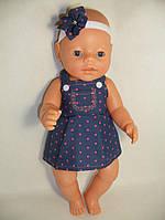 Сарафан джинсовый с повязкой для куклы Baby Born