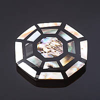 Кулон Паутинка восьмиугольник  халиотис инкрустация на бейле L-8см B-3см