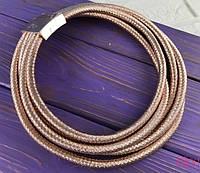 Многорядное колье-жгут розовое золото