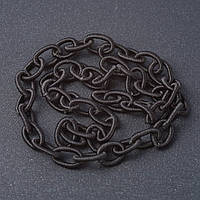 "Цепь якорная мягкая черная текстиль ""звено"" 1,3*0,8см L-45см"