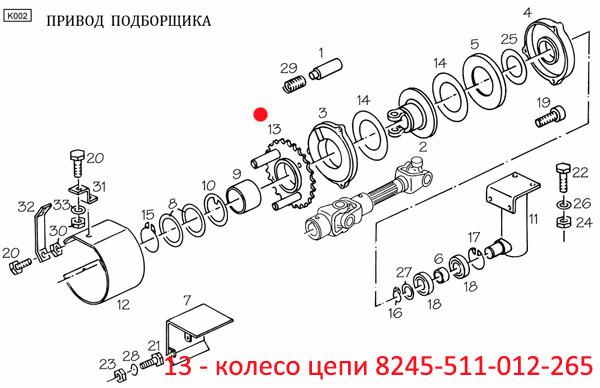 Колесо цепи  8245-511-012-265