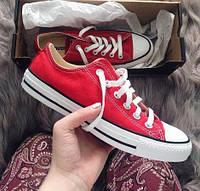 Converse all star red low кеды конверс красные низкие р. 35-45