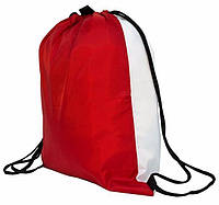 Рюкзак палаточная ткань белый/красный для сублимации