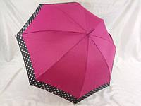 Зонт трость с каймой в горошек № 6205 от SL