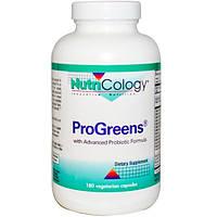 Nutricology, ProGreens, 180 растительных капсул