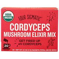 Four Sigmatic, Напиток из грибов кордицепс и травами, 20 пакетиков, 0,1 унции (3 г) каждый