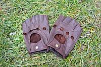 Перчатки из натуральной кожи и замши (Бордовые)