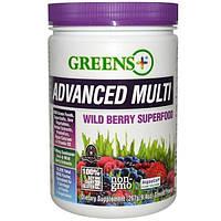 Greens Plus, Расширенный мультивитаминный комплекс, с лесными ягодами, 9,4 унции порошка