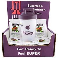 Healthy Skoop, Коробка с Образцом СуперФуд с Бутылкой для Смешивания, 6 шт