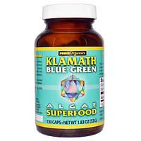 Klamath, Power Organics, Суперпища из водорослей, Сине-зеленые водоросли оз. Кламат, 130 капсул