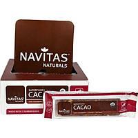 Navitas Organics, Суперпродукт+ какао, органические батончики-суперпродукт с какао и клюквой, 12 батончиков, 16,8 унций (480 г)
