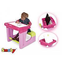 Детская парта с двухсторонней доской для рисования Smoby 28061R