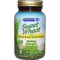 Sweet Wheat, Sweet Wheat, сырой порошкообразный концентрат сока ростков пшеницы, 60 веганских капсул