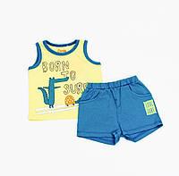 Майка и шорты  для мальчика р.80