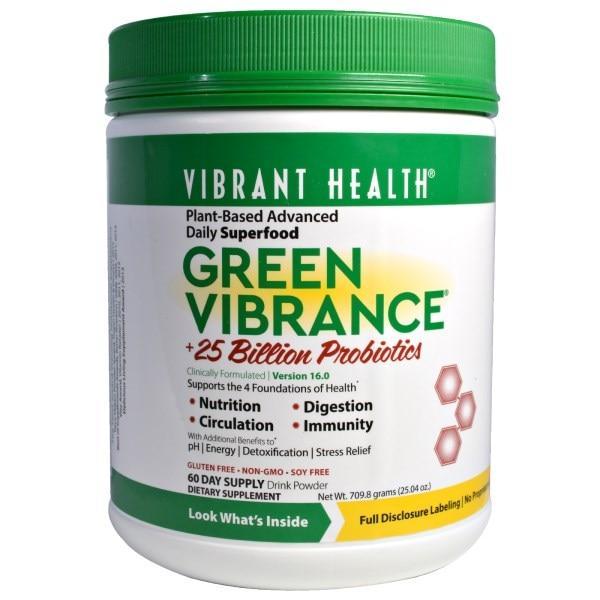 Vibrant Health, Green Vibrance +25 Billion Probiotics, Version 16.0, 25.04 oz (709.8 g)