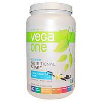 Vega, Vega One, питательный коктейль, со вкусом свежей ванили, 29,2 унции (827 г)