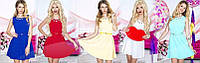 Платье летнее короткое , ткань Костюмка Длина платья: 42р-86см; 44р-88см; 46р-90см асич№193-15